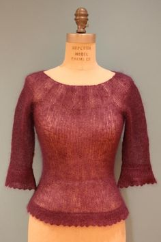 sweater knit pattern | Knitting Ideas | Project on Craftsy: Mohair Yoke Sweater
