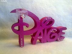 Personalised Wooden Baby Child Free Standing Disney Font Name £2 50 per Letter | eBay