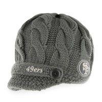 San Francisco 49ers Women's '47 Brand Skybox Soft Visor Knit Hat