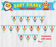 This listing is for Pinkfong Baby Shark/ Under the Sea Party Banner, Happy Birthday Party Banner, Birthday Banner, Party Sign Printable As this listing is for digital file, no physical items will be shipped. Each banner measures 4.9 x 5.5. To order, please let me know the