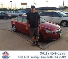 https://flic.kr/p/K8j7au | Happy Anniversary to Jason on your #Chevrolet #Cruze from Steve Han at Greenville Chrysler Jeep Dodge Ram! | deliverymaxx.com/DealerReviews.aspx?DealerCode=J122