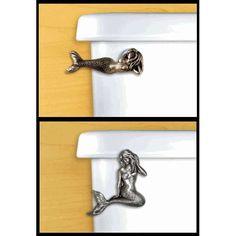 Mermaid Toilet Handles - bathroom