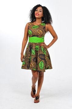 African Print Open Back Short Dress by Bongolicious1 on Etsy, $55.00