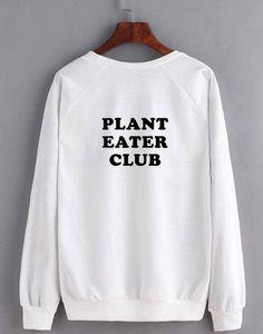 Plant Eater Club - Unisex Crew Sweatshirt