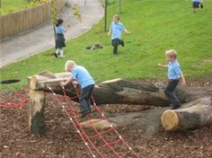 Merrylee Primary school playground, known as Urban Jungle...notice the child down in the hole