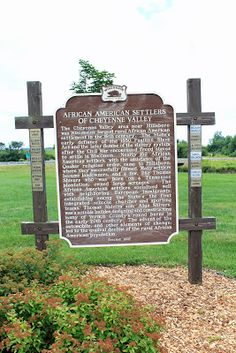 images of historical african american markers by state | ... Heritage Roud Tour: African American Settlers of Cheyenne Valley