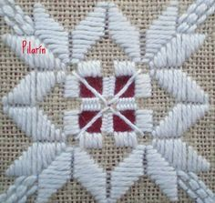 Hardanger Embroidery, Paper Embroidery, Learn Embroidery, Embroidery Stitches, Embroidery Patterns, Bargello Patterns, Crochet Doily Patterns, Doilies Crochet, Drawn Thread