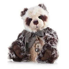Charlie Bears Collectable Blackberry Crumble 21in Plush Panda
