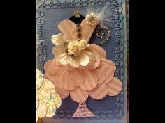 Justafew - Paper Dress Form for embellishments Dress Card, Diy Dress, Dress Tutorials, Craft Tutorials, Punch Art, Paper Punch, Stick Wall Art, Origami Dress, Graphic 45