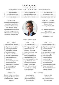 Free Meet me CV template in Microsoft Word format - CV Template Master