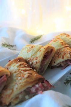 Pienet herkkusuut: Helpot, nopeat ja herkulliset suolapalat illanistujaisiin Croissant, Tacos, Mexican, Ethnic Recipes, Crescent Roll, Crescent Rolls, Mexicans, Breakfast Croissant