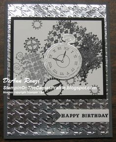 Stampin' on the Prairie: Masculine Cards, clockworks