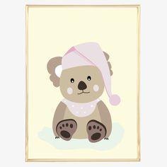 Digitaldruck - Poster, Illustration, Kinderposter: Koala Bär - ein Designerstück…