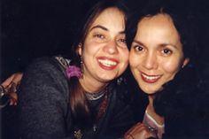 The writter Adriana Díaz Enciso and Rita Guerrero