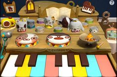 Other Canimals KeyboDrums - Nia, Ung, Ato, Wooang, Mimi and Olive - Cymbal effect Silent Night Holy Night, Jingle Bells, Holi, Birthday Cake, Cookies, Desserts, Kids, Names, Star