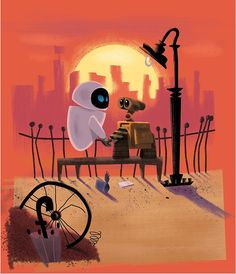 Wall-E and Eve by vschultz25