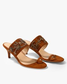 9a1b64ac4e8 Buy Brown Heeled Sandals for Women by AJIO Online