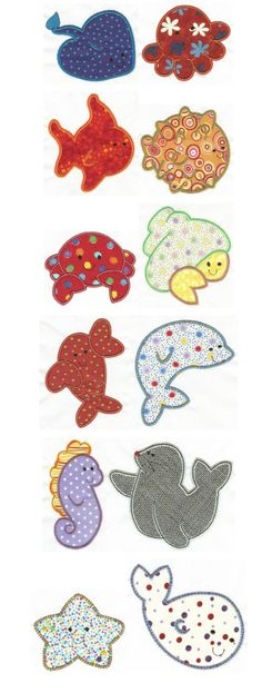 Embroidery | Free Machine Embroidery Designs | Simply Sweet Sea Creatures Applique