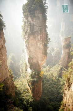 Zhangjiajie Mountains - never knew this was a real place!  #China