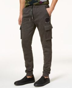 American Rag Men's Patch Knit Jogger Pants, Created for Macy's - Black 2XL