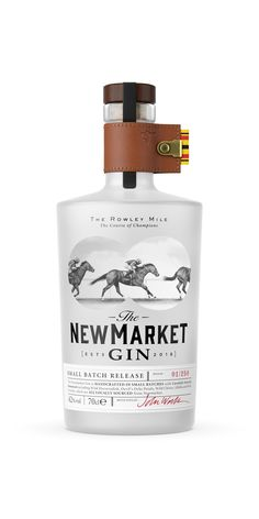 The Newmarket Gin for The Bedford Lodge Hotel and Spa by Nude Brand Creation Beverage Packaging, Bottle Packaging, Coffee Packaging, Food Packaging, Cocktails, Alcoholic Drinks, Beverages, Whisky, Gin Brands
