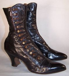 child's 1860s button shoes | Buyer pays $12.00 shipping, handling and insurance, USA orders only.