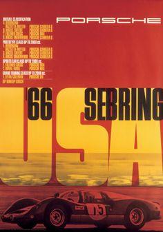 2eda2397095b Sebring 1966. pinterest.com fra411  car  poster  porsche Graphic Design