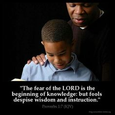 """The fear of the Lord is the beginning of knowledge: but fools despise wisdom and instruction"" (Proverbs 1:7). #KWMinistries"