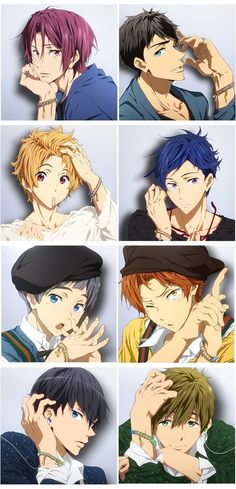 Eternal Summer - Characters Mook Rin & Sousuke - Characters Mook Nagisa & Rei - Characters Mook Aiichirou & Momotarou - Characters Mook Haruka & Makoto >>> These are all my ships side by side. Manga Anime, Fanart Manga, Got Anime, Fanarts Anime, I Love Anime, Anime Guys, Rin Free, Nagisa Free, Rei Ryugazaki