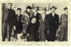 Great Grandparents, Grandpa, Great uncles, and Great Aunts.