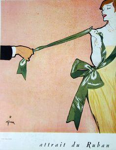 Attrait du ruban - illustration de René Gruau