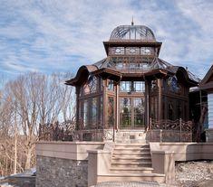 Custom-designed working greenhouse eclectic exterior