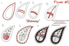 How to draw Paisley Flower 09 Shanny by Quaddles-Roost.deviantart.com on @deviantART