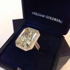 The astonishing and exquisite Anastasia Double Shank Diamond Ring, totaling over 30 carats.