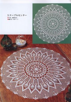 Beautiful large round napkin with pineapple