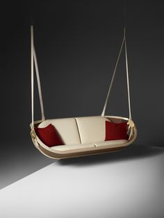 Louis Vuitton unveils new Objets Nomades pieces at Milan Furniture Fair Swing Boat by Atelier Oï - ©Courtesy of Louis Vuitton Luxury Furniture Brands, Affordable Furniture, Unique Furniture, Cheap Furniture, Furniture Decor, Furniture Design, Outdoor Furniture, Outdoor Decor, America Furniture
