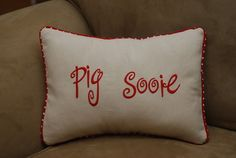 Pig Sooie Arkansas Throw Pillow Shamor any by tootledoodesigns