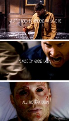 [gifset] 9x21 King Of The Damned, 9x22 Stairway To Heaven , 9x23 Do You Believe In Miracles #SPN #Dean