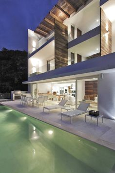Swimming pool  Casa Almare - Mexico by Elías Rizo Arquitectos