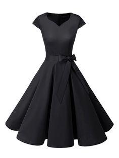 Vintage Tea Dress, Vintage Dresses 50s, Vintage Tee, Rockabilly Dresses, 50s Rockabilly, Rockabilly Clothing, 50s Vintage, Retro Dress, Pretty Dresses