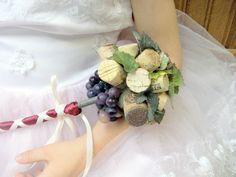 Vineyard Wedding Flowergirl Wand. $25.00, via Etsy.