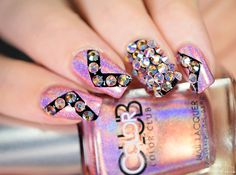 Crystal bling nails with the Crystal Katana by simplynailogical