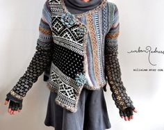 upcycled sweater - asymmetrical