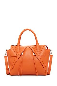 Diagonal Zip Satchel Casual Chic Style 3eaec26689ee0