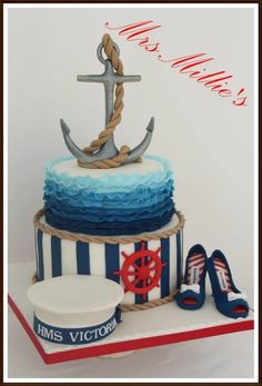 In the navy - Cake by Mrs Millie's
