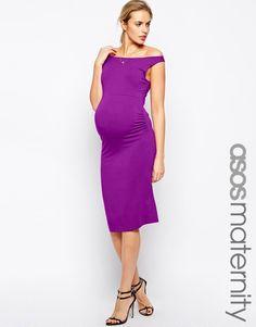 Image 1 ofASOS Maternity Sleeveless Bardot Dress
