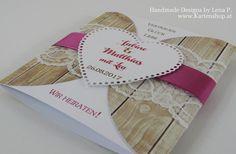 Einladungskarten - ♥ EINLADUNG ♥ zur Hochzeit in Holzoptik & S... - ein…