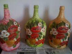 Resultado de imagem para garrafões decorados