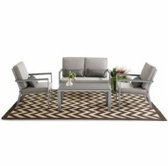 Win Me! The contemporary Monaco set could be yours! Pin this set in your Patio Oasis board for your chance to call this your own! Backyard Retreat, Backyard Patio, Patio Accessories, Garden Items, Outdoor Furniture Sets, Outdoor Decor, Online Furniture, Monaco, Oasis