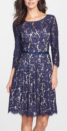 Beautiful lace fit and flare dress Plus Size Dresses, Cute Dresses, Formal Dresses, Formal Wear, Fit Flare Dress, Fit And Flare, Lace Dress, Dress Up, Plus Sise